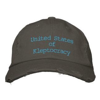 Casquette Brodée Les Etats-Unis de Kleptocracy