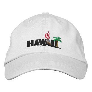 Casquette Brodée Les palmiers et les volcans hawaïens ont brodé le