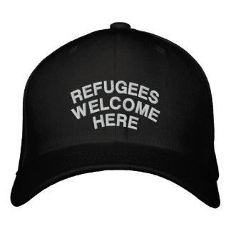 Casquette Brodée Les réfugiés sont bienvenus ici