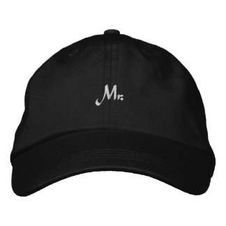 Casquette Brodée M. Groom Newlywed Embroidered Hat