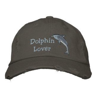 Casquette Brodée Mammifère de mer d'océan d'amant de dauphin