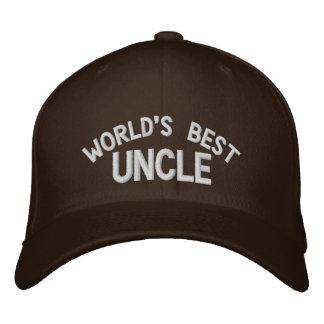 Casquette Brodée Meilleur oncle Embroidered Hat du monde