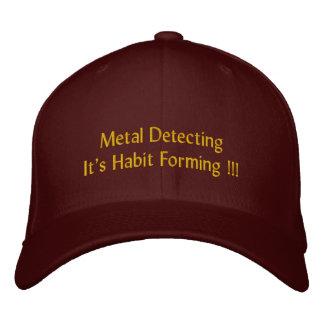 """Casquette Brodée """"Metal la détection"""", il est formation d'habitude"""