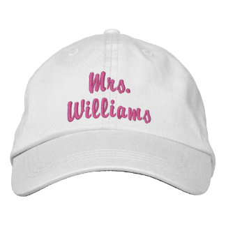 Casquette Brodée Mme mignonne superbe Embroidered Hat