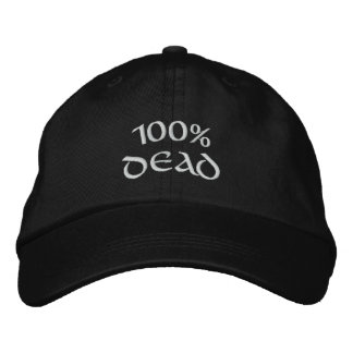 Casquette Brodée morts de 100%
