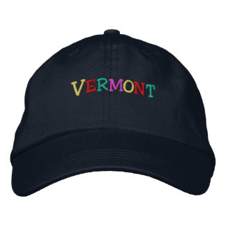 Casquette Brodée Namedrop Nation_Vermont multicolore