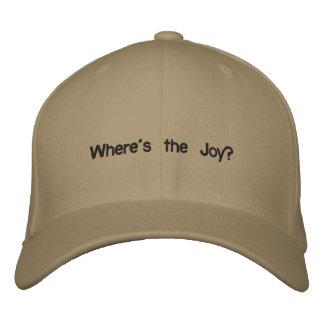 Casquette Brodée Où est la joie ?