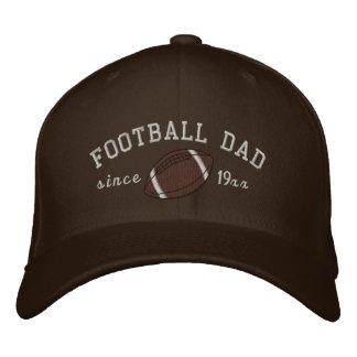 Casquette Brodée Papa du football - ajoutez votre propre année !