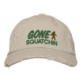 Casquette Brodée Piquer vert et brun de Squatchin allé -