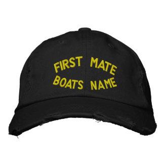 Casquette Brodée Premier compagnon avec votre nom de bateaux