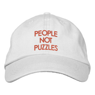 Casquette Brodée Puzzles de personnes pas