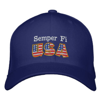 Casquette Brodée RB de Semper fi Etats-Unis
