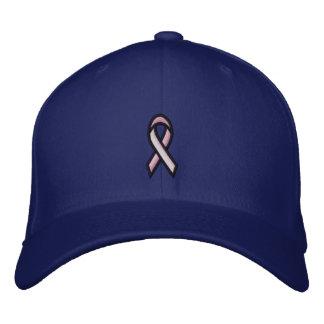 Casquette Brodée Ruban rose de cancer du sein