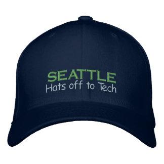Casquette Brodée Seattle - roi vrai de technologie