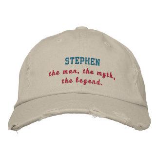 Casquette Brodée Stephen la légende