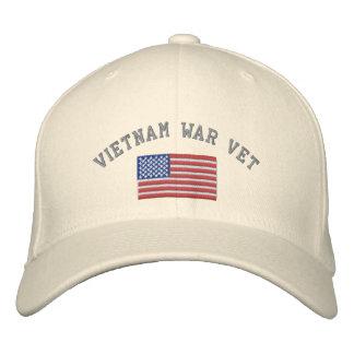 Casquette Brodée Vétérinaire de guerre de Vietnam avec le drapeau