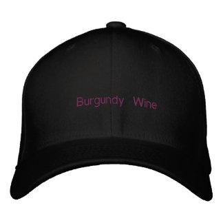 Casquette Brodée Vin de Bourgogne