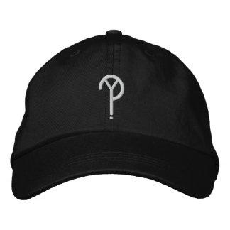 Casquette Brodée Y ? - Noir de chapeau de symbole (les couleurs