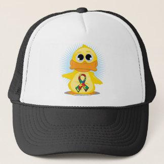 Casquette Canard de ruban d'autisme