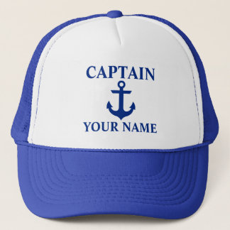 Casquette Capitaine nautique Name Anchor Blue