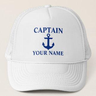 Casquette Capitaine nautique Name Anchor White