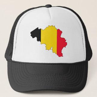 Casquette carte de drapeau de la Belgique