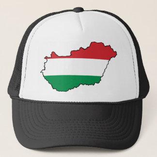 Casquette Carte HU de drapeau de la Hongrie