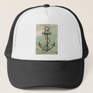 Casquette Carte nautique antique avec l'ancre