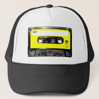 Casquette Cassette jaune de cru d'étiquette