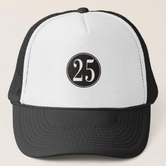 Casquette Cercle noir - numéro 25 (avant)