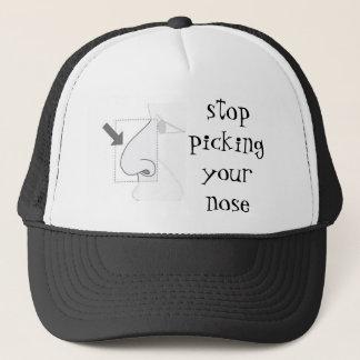 Casquette cessez de sélectionner votre nez