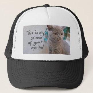 Casquette C'est mon avis de votre chat d'opinion