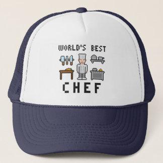 Casquette Chef du monde de pixel le meilleur