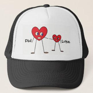 Casquette Chiffres mignons de bâton de coeur de papa et de