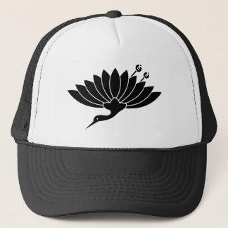 Casquette chrysanthème Grue-formé