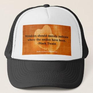 Casquette Citation d'anniversaire de Mark Twain avec des