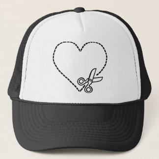 Casquette Coeur avec des ciseaux