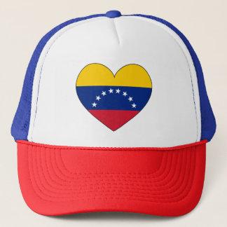 Casquette Coeur de drapeau du Venezuela
