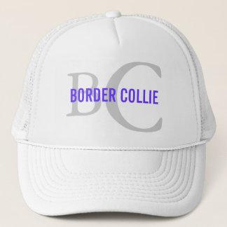 Casquette Conception de monogramme de race de border collie