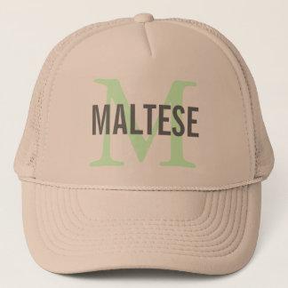 Casquette Conception maltaise de monogramme de race