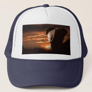 Casquette Coucher du soleil avec l'éléphant