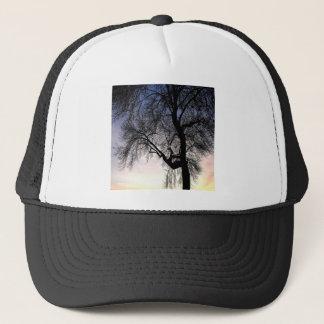 Casquette Coucher du soleil de ciel d'arbre
