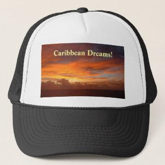 Casquette Coucher du soleil des Caraïbes, rêves !