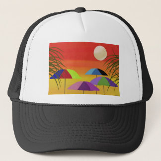 Casquette Coucher du soleil tropical de parapluie