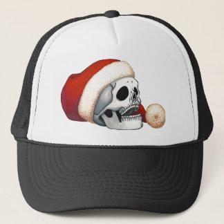 Casquette Crâne de sourire de Père Noël