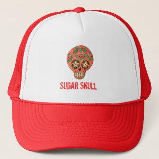 Casquette Crâne mexicain rouge de sucre