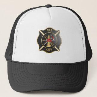 Casquette Croix maltaise de sapeurs-pompiers noirs