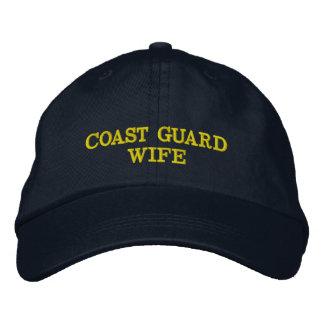 Casquette d épouse de la garde côtière brodé casquette de baseball brodée