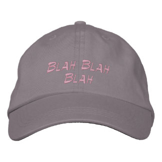 Casquette de baseball Blah - chapeau brodé fade de