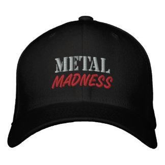 Casquette de baseball de folie en métal